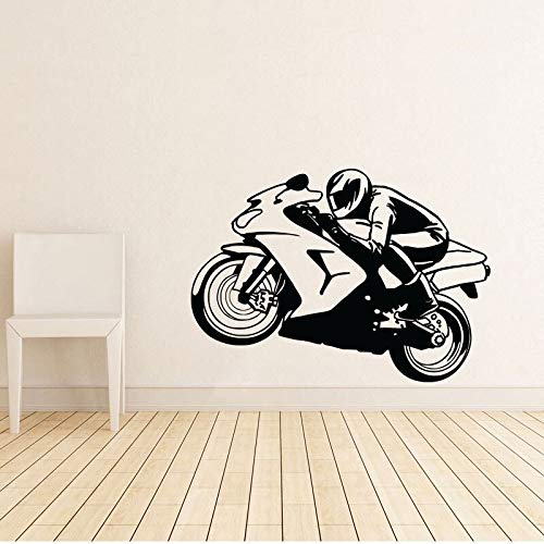 yaonuli Motorrad Fahrrad Wandtattoo Home Decoration Kinderzimmer Dekoration Wallpaper Wandbild 57X57cm