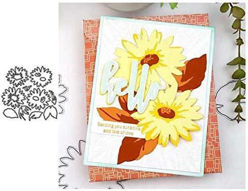 JC Sunflower Flowers Shape Metal Seasonal Wrap Introduction Direct store for DIY Dies Scrapbooki Cutting