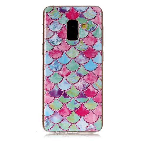 WANYINGLIN Ultra Dünn Slim Anti-Rutsch Flexible Handyhülle 3D Flower Animal Cartoon Kreative Soft Licht Gel Gomma TPU Silikon Schutz Handy Hülle Case Tasche Etui Bumper für Samsung Galaxy A8 2018