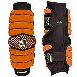 Brine LoPro Superlight Lacrosse Arm Guard, Orange, Large
