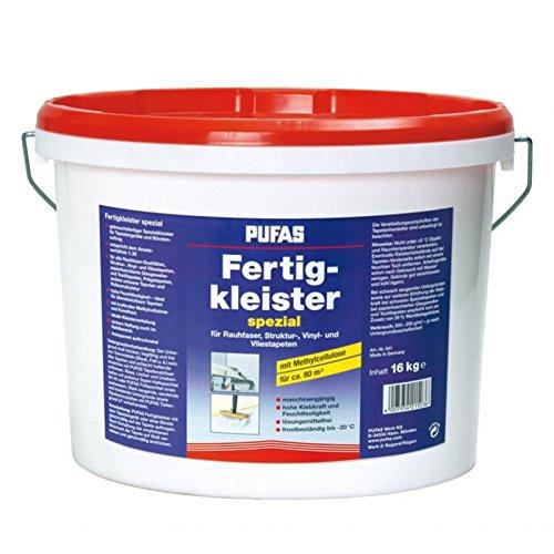 Pufas Fertigkleister spezial für Rauhfaser, Struktur-, Vinyl- und Vliestapeten 16,000 KG