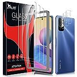 TAURI Schutzfolie Kompatibel Mit Xiaomi Redmi Note 10 5G /Xiaomi Poco M3 Pro 3 Stück Kamera Panzerglas & 3 Stück Schutzfolie Blasenfreie 9H Festigkeit Klar HD Bildschirmschutz