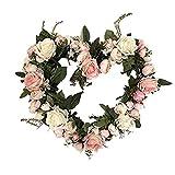 Simulation Artificielle Rose Fleurs Guirlande, Artificielle Fleur De Vigne Faux Suspendus Guirlande De Fleurs Bandeau Couronne Florale Maison De Mariage En Plein Air Arche Jardin Mur Décor