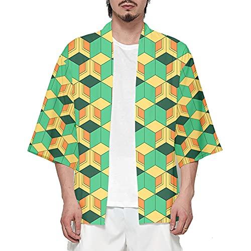Demon Slayer Cosplay Kostuum Vest Top Jas Kimono Kleding, Vest Top Jas, Kimetsu No Yaiba, Voor Sabito, Voor Heren En Meisjes