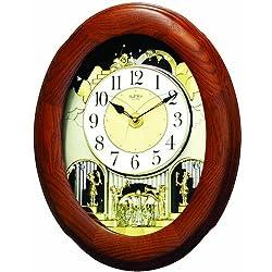 Rhythm Clocks Joyful Nostalgia Oak Magic Motion Clock
