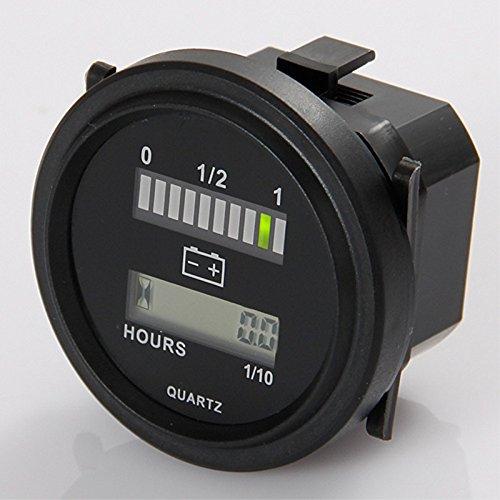 Rund -lcd -Stundenzähler mit LED -Batterieindikator Gauge 12V 24V 36V 48V 72V für Golfschlepper Kehrmaschine