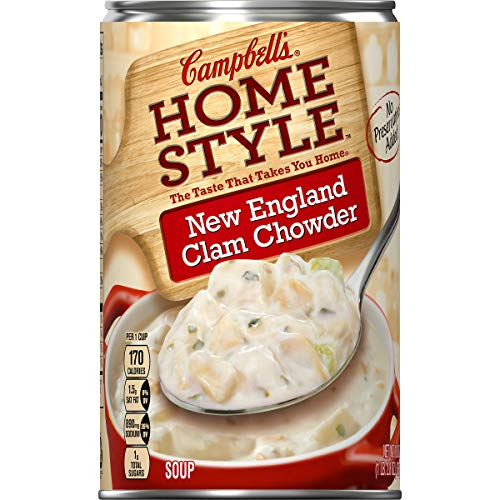 Campbell's Homestyle New England Clam Chowder, 18.8 oz. (Pack of 12)
