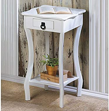 Curved Legs Entry, Living, Kids, Bedroom, White Accent Table