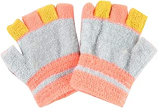 Five-Finger Gloves(4-8 Years Old), Winter Warm Mittens for Boys and Girls, D03