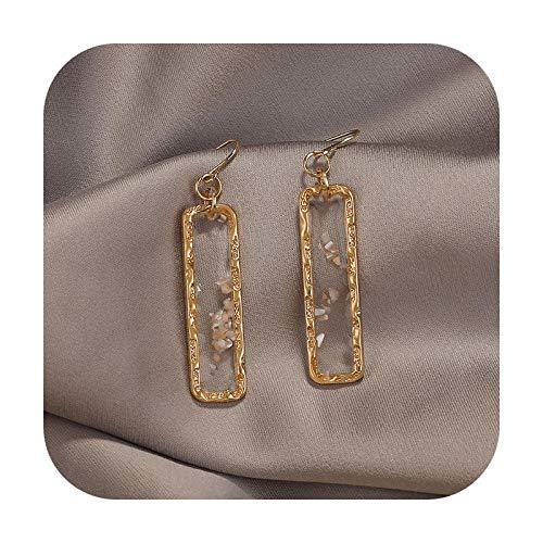 Pendientes de gota de acero inoxidable para mujer, diseño de geometría inusual, estilo vintage