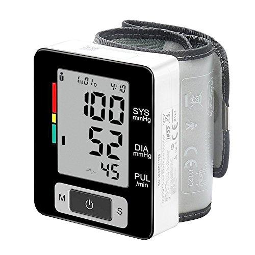 AimdonR Klinischer Automatischer Blutdruckmonitor, Großbildschirmanzeige, tragbar, Blutdruckmessgerät Handgelenk, vervollkommnen für Gesundheits-Überwachung