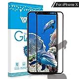 iPhone X Panzerglas Schutzfolie, WZS® [1 Stück] Displayschutzfolie für Apple iPhone X / iPhone 10...