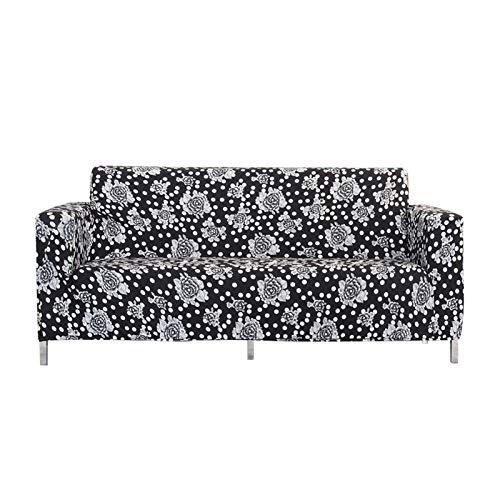 CENPENYA Sofabezug Stylish Pattern Sofaüberzug für Sofa Stretch Elastische Sofahusse Couchhusse mit Armlehne für Wohnzimmer Anti-Rutsch (D,2 Sitze)