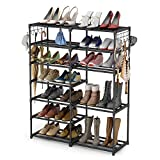 Shoe Rack Shoe Tower Shoe Shelf Shoe Storage Organizer Unit Entryway Shelf Stackable Cabinet 24-30 Pairs 7-Tier Durable Metal Shoe Rack Boots Organizer by Tribesigns