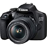 Canon EOS 2000D (24.1MP) Cámara digital SLR de 3 pulgadas LCD (negro) con 2 x lentes (EF-S 18-55mm IS STM II lente y EF 50mm f/1.8 STM objetivo)