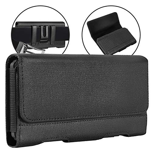 BECPLT iPhone 11 Gürtelclip Hülle, iPhone XS MAX Holster, Nylon Tasche Handytasche Gürteltasche Schutzhülle Hülle mit ID Card Slots für Apple iPhone 11 Pro Max, iPhone XR, iPhone 8 Plus 7 Plus 6s Plus