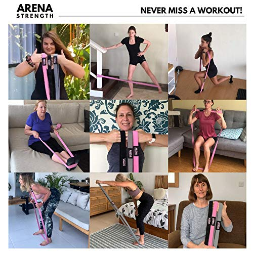 Arena Strength Long Fabric Resistance Bands - Full Body Resistance Bands Set of 3 and Pull Up Assistance Bands | Cloth Resistance Bands Loop with Fabric Exercise Resistance Bands Workout Guide