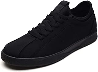 Fashion Shoes, Fashion Shoes Men Flat Athletic Sneaker for Sports Fabric Shoes Lace Up Style Casual Outdooor Walking Running Comfortable Shoes, Breathable Shoes (Color : Black, Size : 6.5 UK)