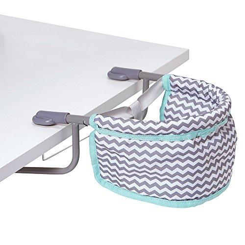 Adora Portable Table Zig Zag Feeding Seat in Teal Pattern Design For Dolls, Neutral, Model:217603
