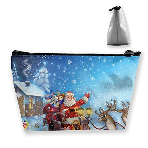 Nieuwjaar Kerstmis Tekening van herten Slee van de Kerstman (3) Cosmetische tas Make-up Opbergtas Toiletruimte Organizer Potlood Case Handtas