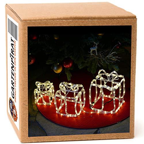 LED Geschenkbox Weihnachten leuchtend mit 180 LED warmweiß zur Weihnachtsdekoration