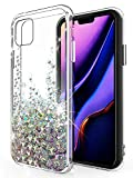 SunStory Designed for iPhone 11 Case,Luxury Fashion with Moving Shiny Quicksand Glitter and Double Protection with PC Layer and TPU Bumper Case for iPhone 11 6.1 Phone (Silver)