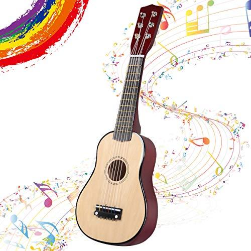 GOPLUS 1/2 Größe Kindergitarre, Konzertgitarre aus Holz, Anfängergitarre mit 6 Nylonsaiten, Akustikgitarre mit Plektrum, aus Holz, für Kinder ab 3 Jahren, für Anfänger zum Lernen (Natur)