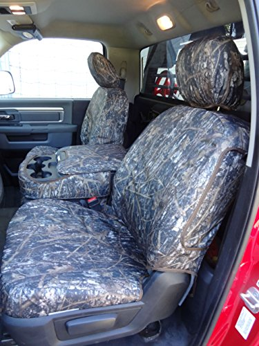 Durafit Seat Covers, DG29 DS1 c Seat Covers Made in Tree Camo Endura for 2013-2019 Dodge Ram Quad Cab Front 40/20/40 and Back Solid Bench Seat Set.