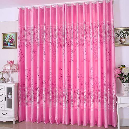 WBXZAL-Rideaux Vider Les Tissus Finis Semi - ombragés Rideau européen Moderne de Salon, Chambre flotter fenêtre Fils de Rose,200,B
