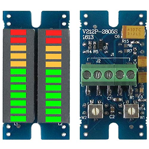 Kaxofang Indicador de Espectro de Audio de MúSica LED de Segmento 2X12 Indicador de Nivel Dual EstéReo Indicador de Nivel de Volumen del Medidor de VU DG350
