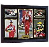 SGH SERVICES Gerahmtes Poster Ayrton Senna Formel 1 F1