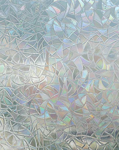 Arthome Privacy Pellicola per Finestre 3D Decorative Autoadesive Anti-UV Controllo di Calore per Bagno Porta Camera da Letto Cucina Ufficio 90cm x 254cm