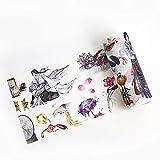 Aibecy Linda cinta washi 100 mm de ancho cinta decorativa colorida colorida rollo adhesivo adhesivo papelería suministros para diy manualidades scrapbooking diario diario foto regalo caja decoración