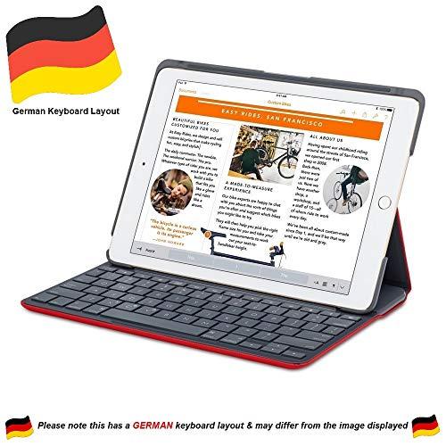 Logitech Canvas Schutzfolie Folio Case für iPad Air 2 - Mars Rot Orange (Nicht kompatibel mit iPad Air 1)