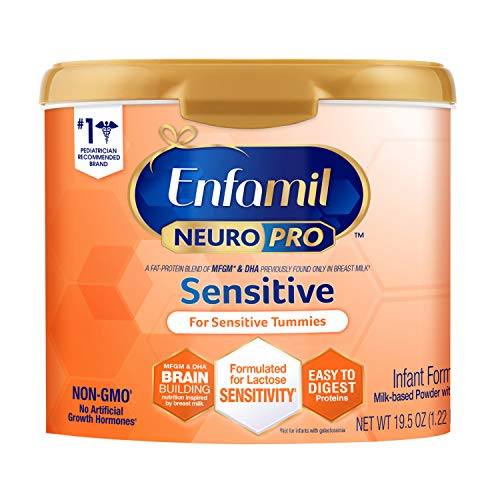 Enfamil Neuropro Sensitive Baby Formula Powder Can, 19.5 Ounce, Easy-to-Digest Protiens, Immune Support, Omega 3 DHA, MFGM