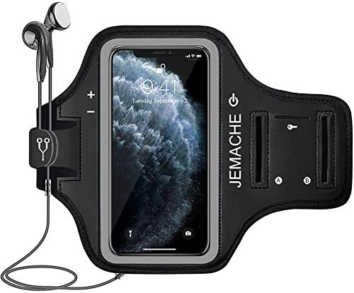 iPhone 12 Pro Max 11 Pro Max Armband JEMACHE Water Resistant Gym Running Workouts Arm Band Case product image