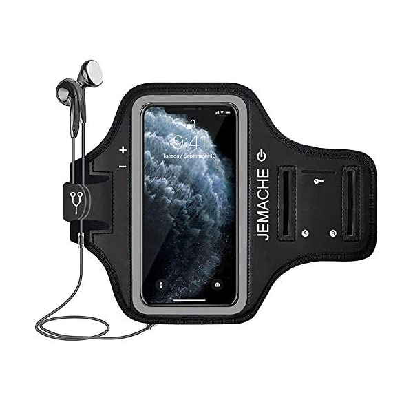 iPhone 11 Pro Max, Xs Max Armband with AirPods Holder, JEMACHE Water Resistant Gym...