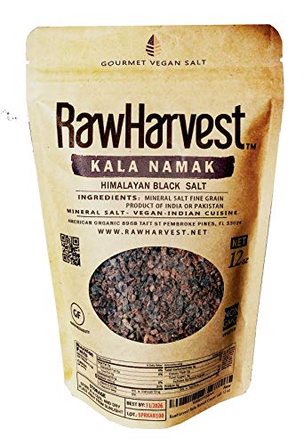 RawHarvest Kala Namak (Himalayan Black Salt) Coarse 12 oz