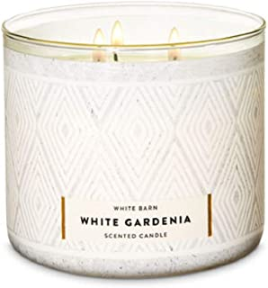 Bath and Body Works White Barn 3 Wick Scented Candle in White Gardenia 14.5 Ounce Full Size