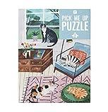 Talking Tables-De 500 Piezas casa Multicolor Jigsaw Puzzle & Poster ilustrados, Animales   para niños, Adultos, Amantes de los Gatos, cumpleaños, Color Puzzle (PUZZ-PMU-Cat)