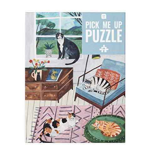 De 500 Piezas casa Multicolor Jigsaw Puzzle & Poster ilustrados, Animales   para niños, Adultos, Amantes de los Gatos, cumpleaños, Color Puzzle (PUZZ PMU Cat)