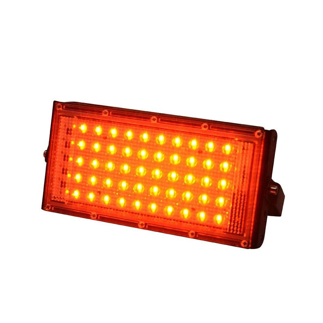 利用可能多用途ぴったりDoo 50W LED投光器 フラッドライト 薄型軽量 LED投光器 180°広角照明 IP66 ledライト 放熱性抜群 観光スポット 美術館 屋外 看板灯 作業灯 舞台照明 レッド