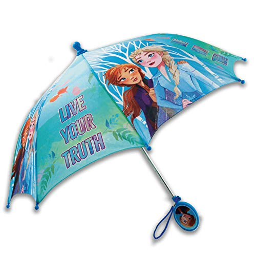Disney Kids Umbrella, Frozen/Princess/Minnie Mouse Toddler and Little Girl Rain Wear for Ages 3-6, 3-7