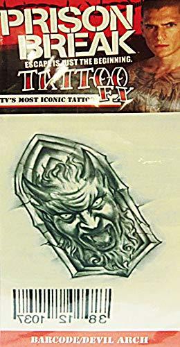 Pause tatouage Prison diable Arc code à barres