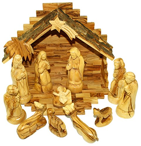 Olive Wood Nativity Set Traditional Carving