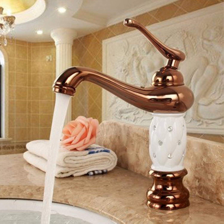 NewBorn Faucet Küche Oder Badezimmer Waschbecken Mischbatterie heie und Kalte Antike Goldene Becken abgesenkt Becken Einzelne Bohrung Leitungswasser High-Copper und Gold schwarz Diamond B