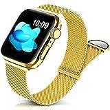 Jiamus Metall Armband Kompatibel mit Apple Watch Armband 38mm 40mm41mm 42mm 44mm 45mm,Klassisches...