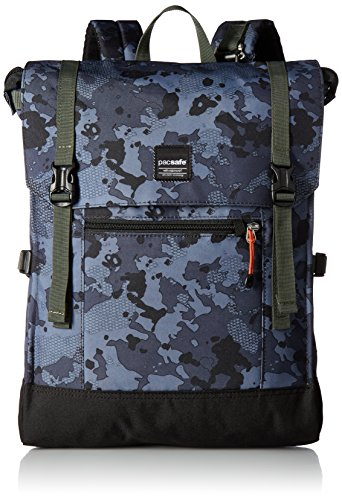 Pacsafe Slingsafe LX450 15L Anti Theft Sling Backpack- Fits 15' Laptop, Grey Camo