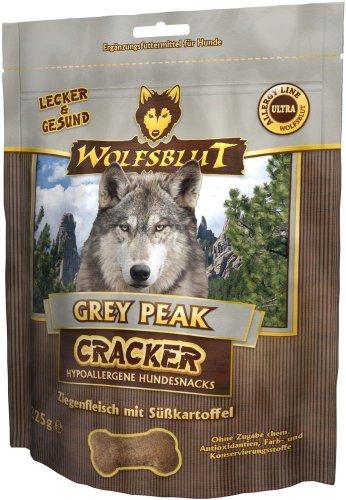 Wolfsblut   Grey Peak Cracker   225 g   Ziege   Snack   Hundefutter   Getreidefrei