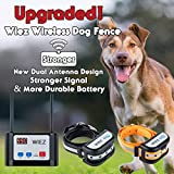 Best Wireless Dog Fence - WIEZ Electric Wireless Dog Fence Upgraded, Dual Antenna-Stronger Review
